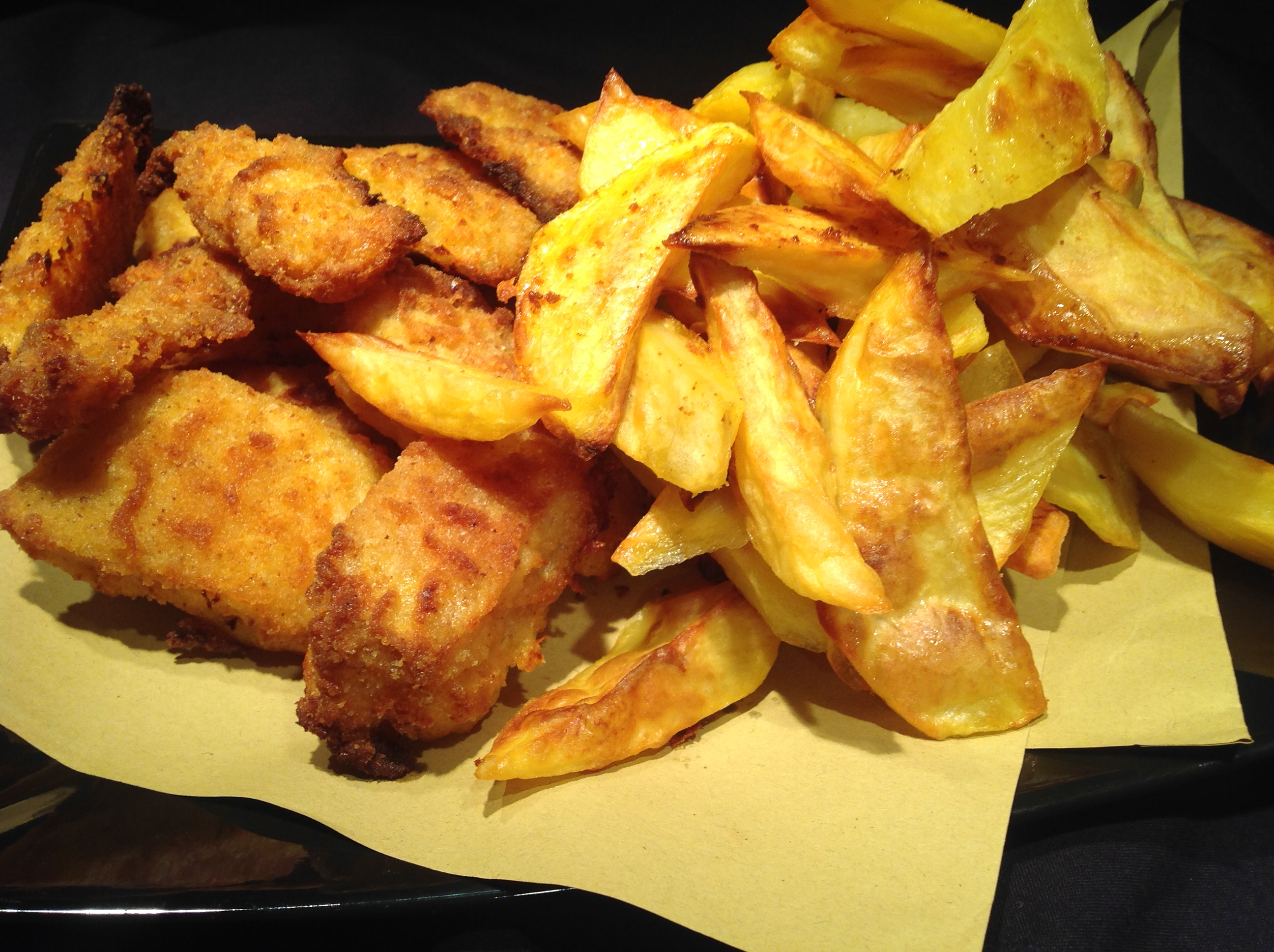 Baccalà fish and chips al forno