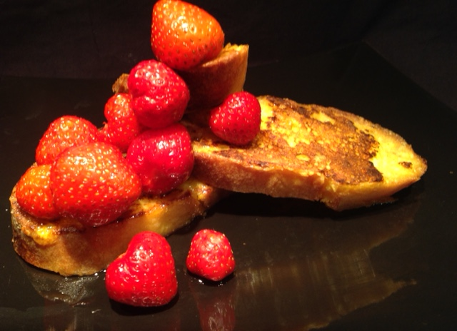 French toast light senza lattosio con fragole