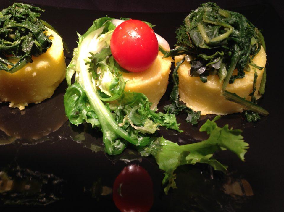 Polentine con verdura